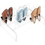 Whitmor 6023-1305 9-Pair Floor Shoe Rack, White