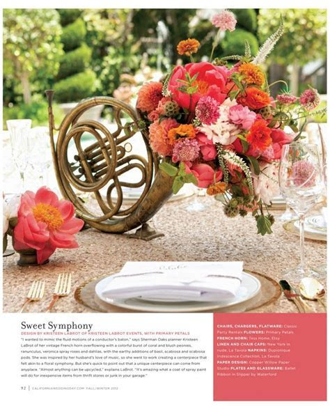 music inspired centerpiece   tantalizing tablescapes