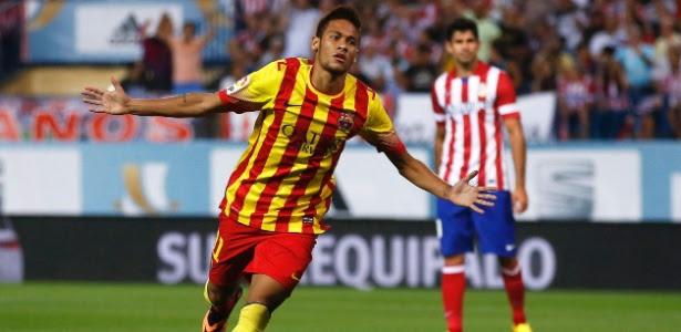 Neymar pode ser escalado no lugar de Messi neste domingo contra o Málaga
