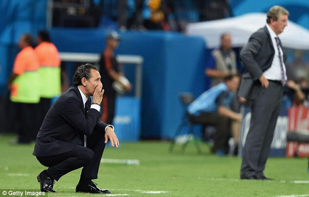 In charge: Italy coach Cesare Prandelli (left) was creative in attack against Hodgson on Saturday