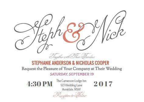 How to create your modern wedding invitation online with