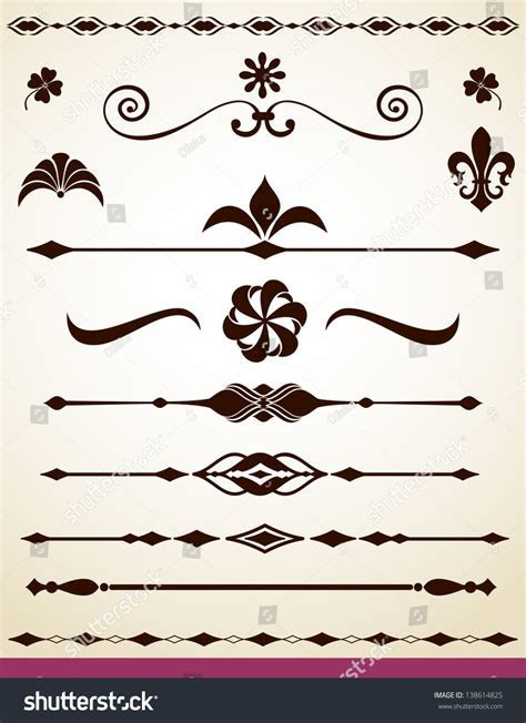 Text Paragraph Dividers Decorations Stock Vector 138614825