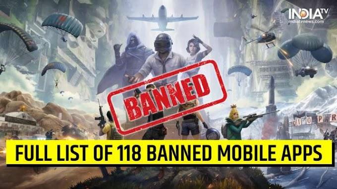 भारत में बैन हुआ पब्जी गमिंग अप। उसके साथ 118 ओर चीनी ऐप्स पर प्रतिबंध लगाया भारत सरकार।
