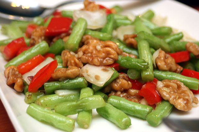 Sauteed Walnut with Assorted Vegetables
