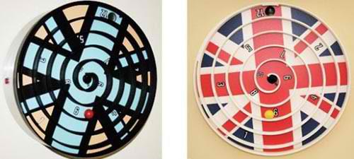british base contemporary wall clock