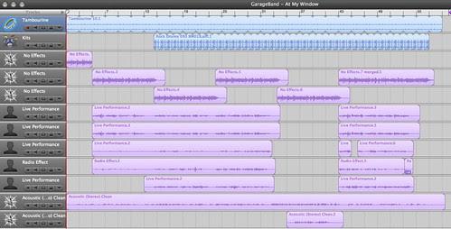 """screenshot - GarageBand """"At My Window"""" (cover version)"""
