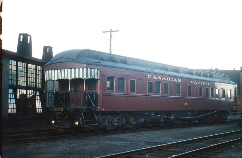 CP business car 23 in McAdam