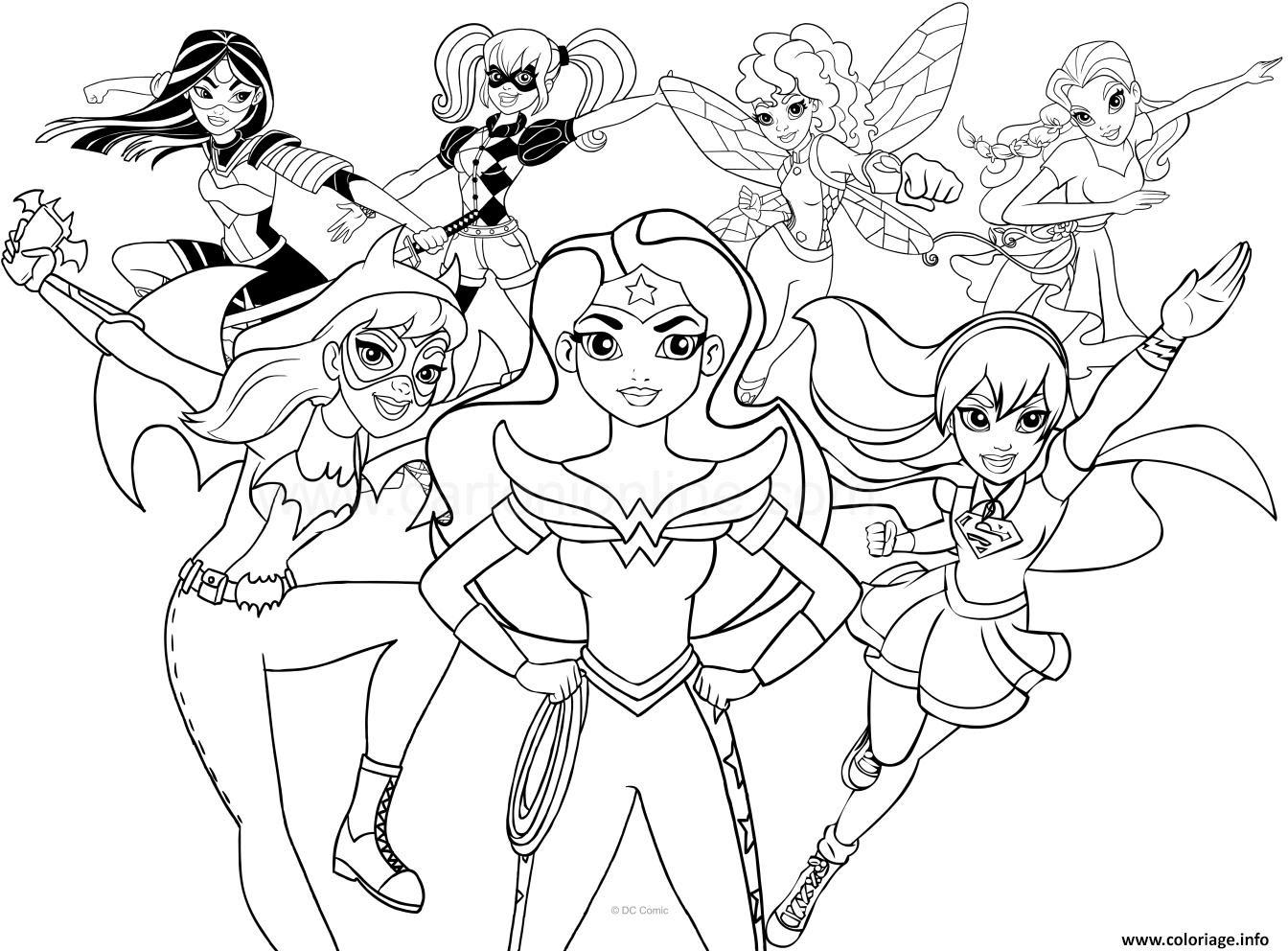 Coloriage Dc Superhero Girls Jecoloriecom