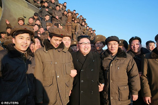 Six sets of UN sanctions since its first nuclear test in 2006 have failed to halt North Korea's drive for what it insists are defensive weapons. Pictured center: Kim Jong-Un