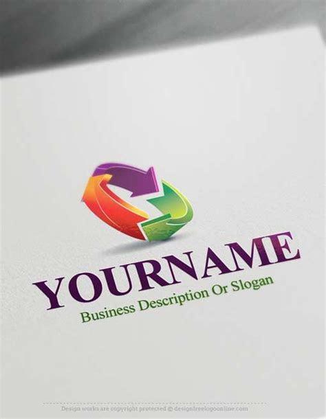 logo maker  colorful arrows logo