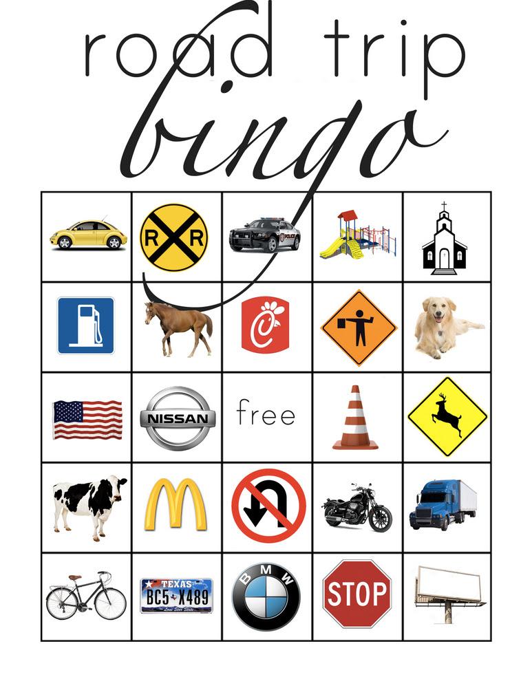 Road Trip Bingo – Everyday Reading