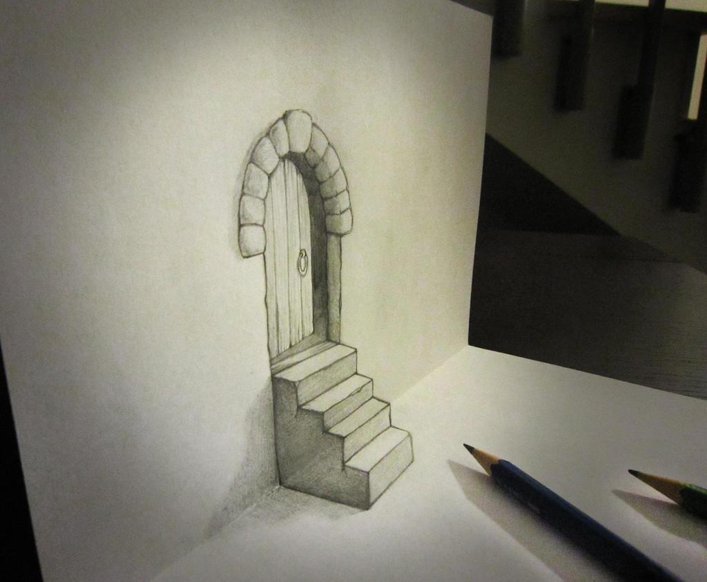 誰でも描ける紙から飛び出すトリックアートだまし絵騙し絵の描き