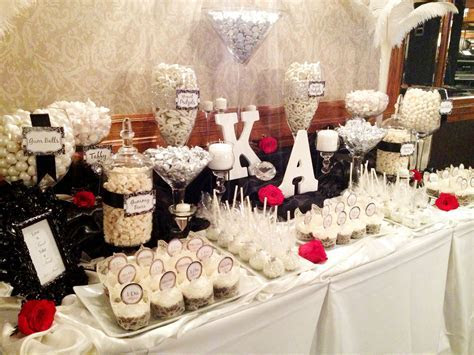 White & Black Wedding Candy Buffet by Sweet Tooth Candy