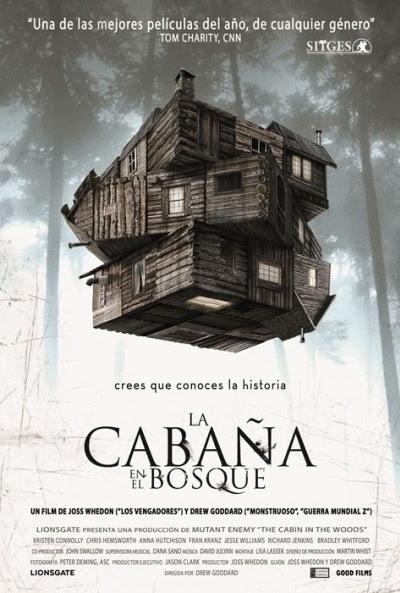 Cartel de La cabaña en el bosque (The Cabin in the Woods)