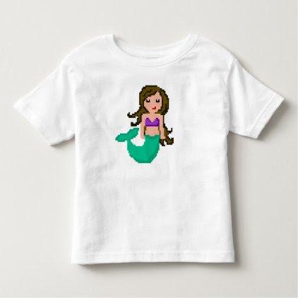 8Bit Pixel Geek Mermaid Toddler T-shirt