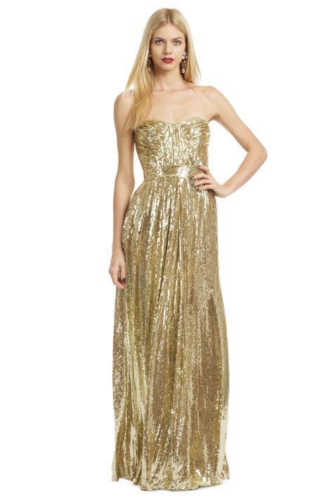 gold shimmer dress   Once Wed