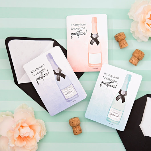 You HAVE To See These DIY Bridesmaid Scratch-off Cards!