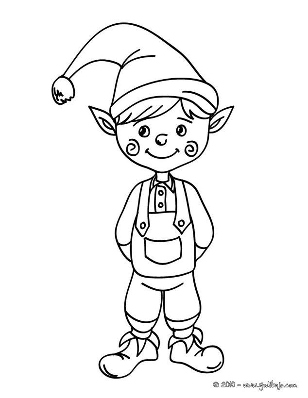 Dibujos Elfos De Navidad Para Colorear 17 Imágenes Navideñas Para