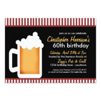 Frosty Stein 60th Birthday Invitations