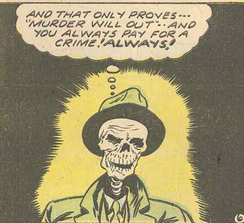 Skull Narrator (Lawbreakers1, 1951, Charlton)