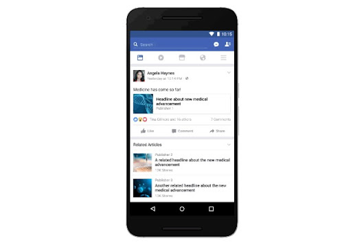 Facebook is testing pre-emptive related articles in News Feed