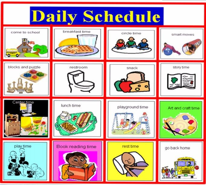 Daily Timetable For Kids – March 2017 Calendar
