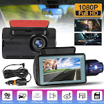 """Dash Cam Front and Cabin Inside Camera,3"""" IPS Screen, 170° Wide Angle, Super Night Vision, Motion Detection, Loop Recording, G-Sensor, Parking Monitor"""