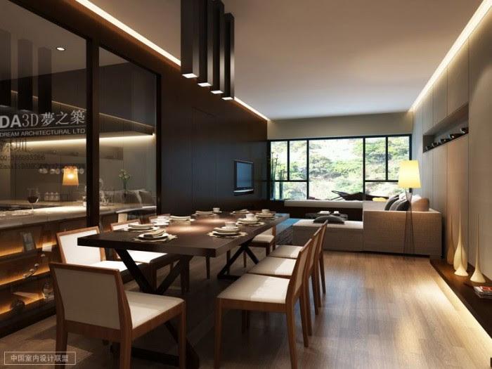 modern living dining