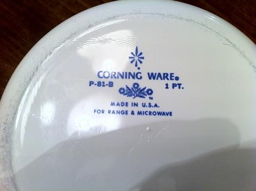 Corning Ware Pyroceram Product Stamp