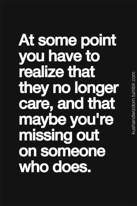 Once She Stops Caring Quotes