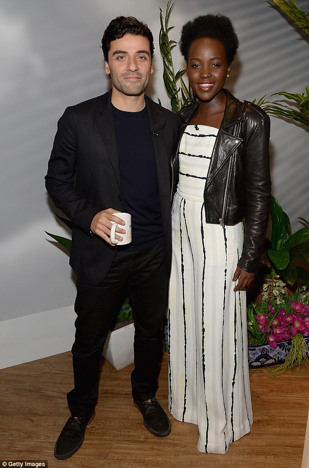 Chatty co-stars: Both Lupita and her handsome Star Wars: The Force Awakens co-star Oscar Isaac spoke fluent Spanish on the American Spanish language morning show