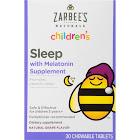 Zarbee's Naturals Children's Sleep with Melatonin Chewable Tablets, Natural Grape - 30 count