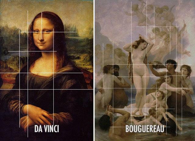 Paintings by Da Vinci and Bouguereau showing Coincidences.