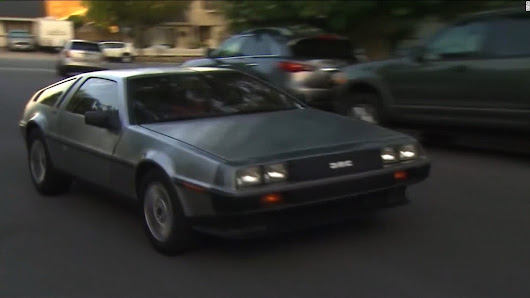 He drove his DeLorean at 88 mph. Instead of time traveling, he got a ticket