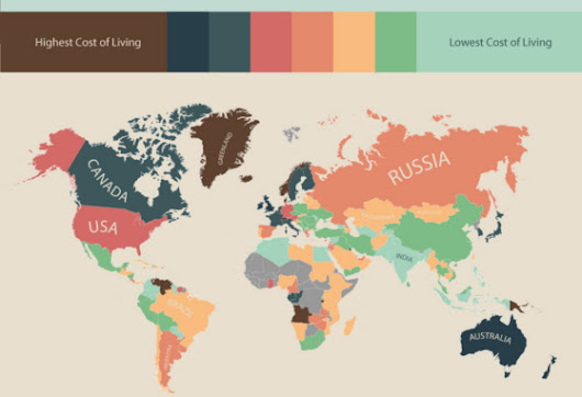 Infographic: The Cost of Living Around the World