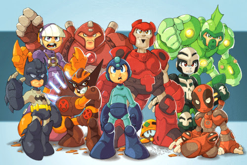 MEGAMAN Splice - by Jon Sommariva Art Blog || deviantART || Twitter (Via: gamefreaksnz | comicbooks)