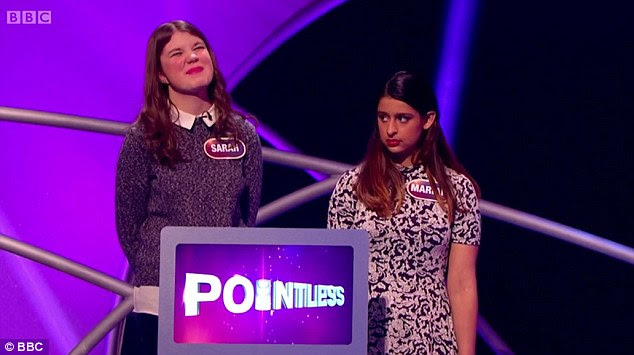 The hilarious moment, involving students Sarah and Mariam, was broadcast to the nation on BBC One yesterday