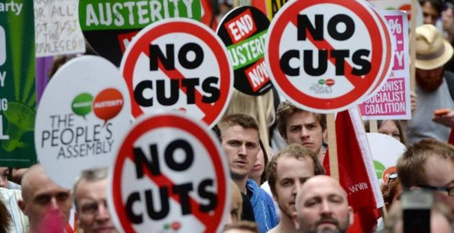 Una de tantas manifestaciones que se han celebrado en las ciudades europeas contra la austeridad. /EFE