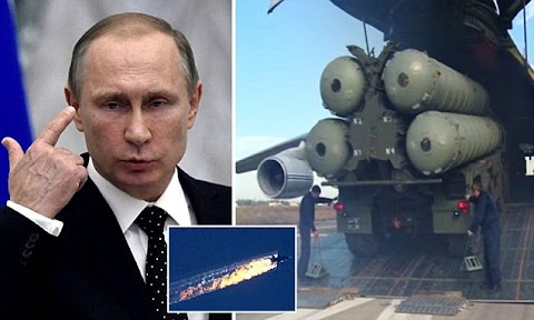 'They knew the exact time and the exact place': Putin accuses America of LEAKING flight path of doomed jet to Turkey...