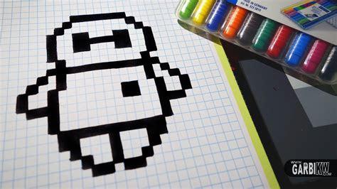 handmade pixel art   draw baymax  big hero