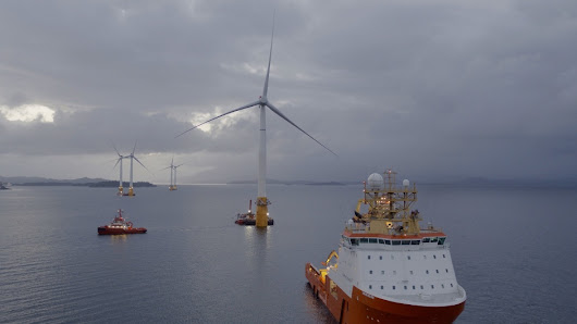 Commercial-scale floating wind farm takes shape off Scottish coast
