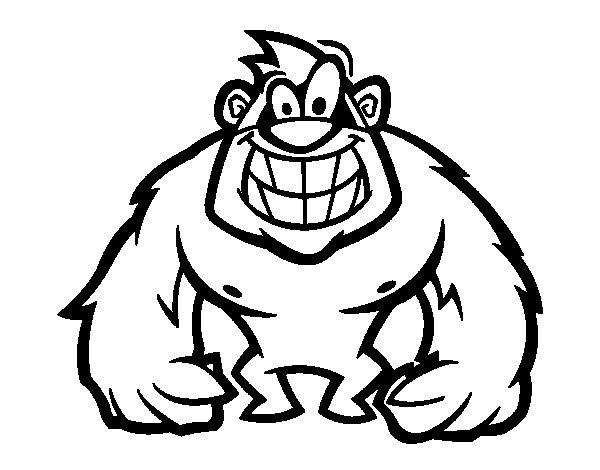 gorila peludo colorear