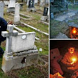 Scare home: Destitute man moves into a 100-year-old GRAVE after losing his house