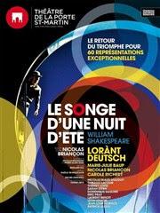 Le Songe d'une nuit d'été  | avec Lorant Deutsch Théâtre de la Porte Saint Martin Affiche