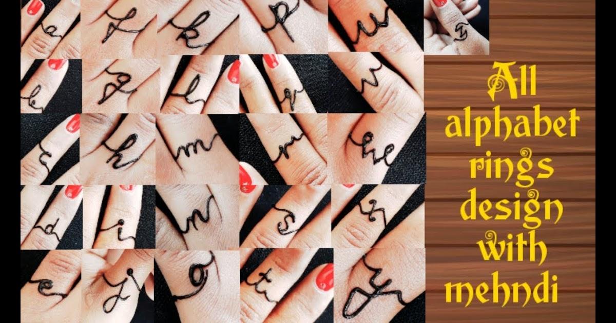alphabet mehndi design a to z