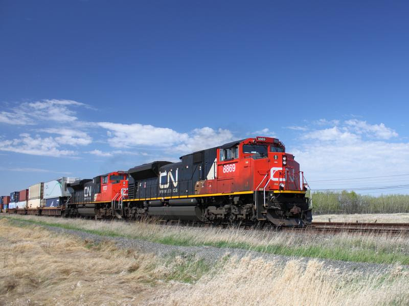 CN 8869 in Winnipeg