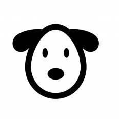 犬の顔シルエット イラストの無料ダウンロードサイトシルエットac