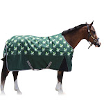 TuffRider 1200D Ripstop 220 GMS Polyfill Pony Horse Print Standard Neck Two Tone Turnout Blanket