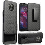 Case with Clip for Moto X4, Nakedcellphone's Black Kickstand Cover + Belt Hip Holster for Motorola Moto X4 (2017) 4th Gen, XT1900