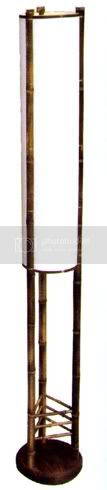 Natural Bamboo Japanese Style Floor Lamp 72''H | eBay